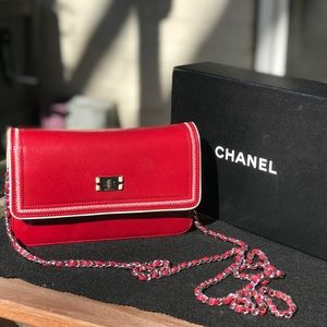 Authentic Chanel Mademoiselle Lock Wallet On Chain